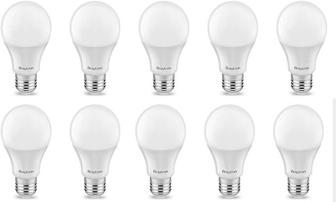 10 Pack de ahorro, bombilla led, Bombilla, E27, A60, 12 W, mate 1055 lúmenes luz blanca fría (6500 K): Amazon.es: Iluminación