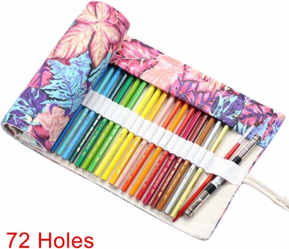 Alftek Estuche Canvas Roll Pouch cosmético Pinceles de Maquillaje Caso Lápiz Cortina Funda Patrón Impreso, 1-72 Loch: Amazon.es: Hogar