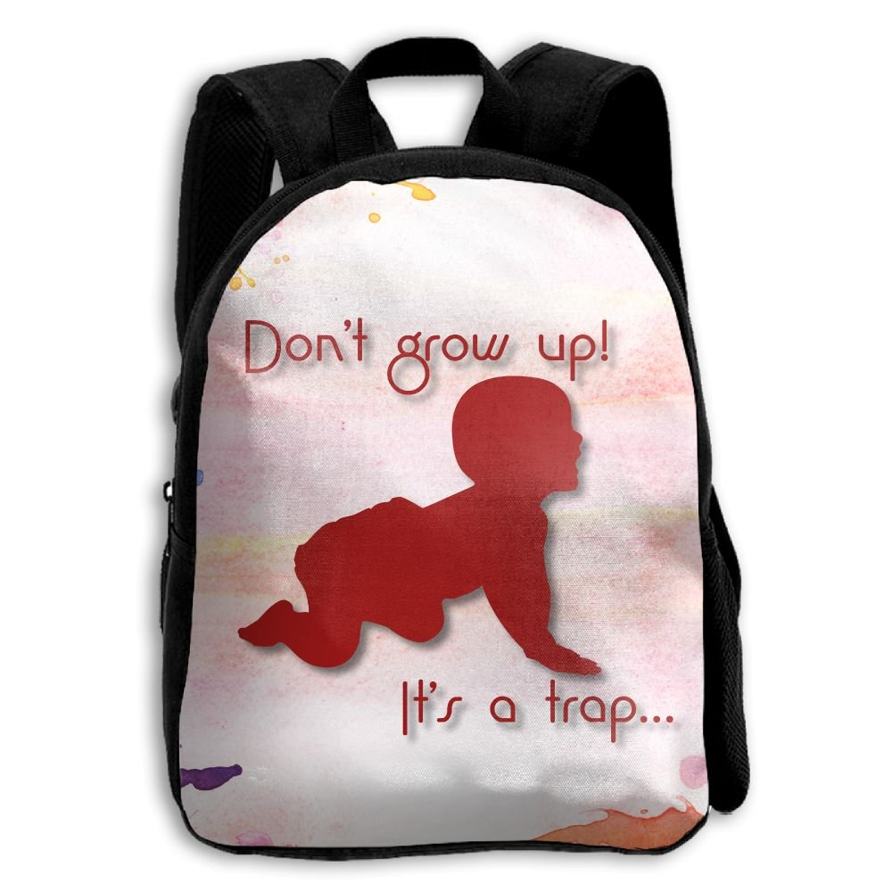 Don't Grow Up Its A Trap Kids Backpacks Double Shoulder Print School Bag Travel Gear Daypack Gift