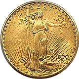 1920 P $20 Saint Gaudens Gold Twenty Dollar MS64 PCGS+