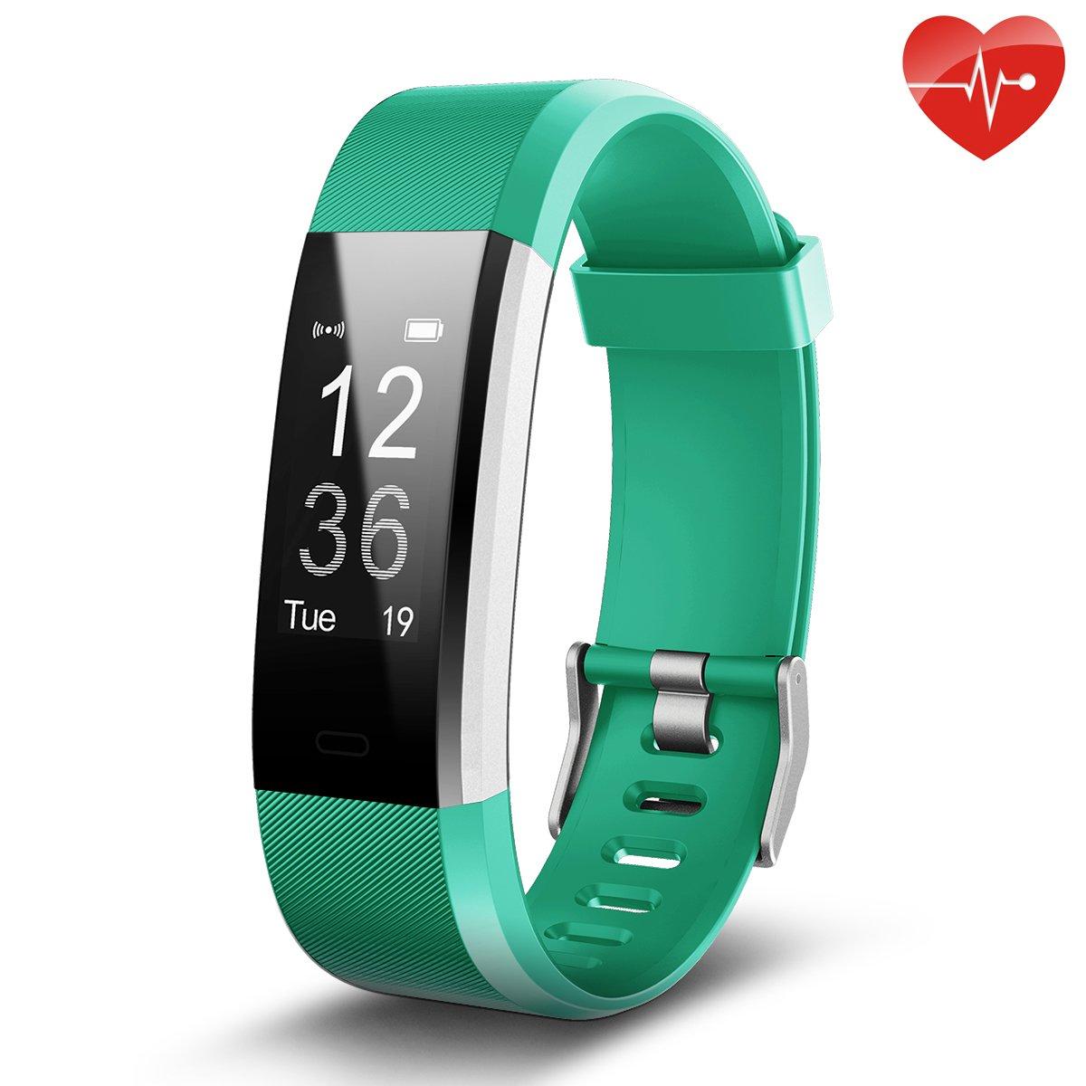 Juboury Fitness Tracker, Smart Bracelet mit Pulsmesser Herzfrequenzmesser,Aktivitä tstracker,Schrittzä hler,SchlafMonitor,Kalorienzä hler Fitness Uhr fü r Android und IOS Smartphones(Schwarz) KEDA ID115P blk de
