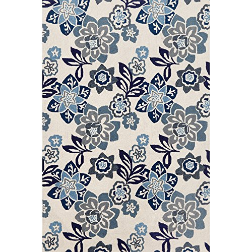 Liora Manne Ravella 2180/03 Floral China Blue Area Rug 42 Inches X 66 Inches