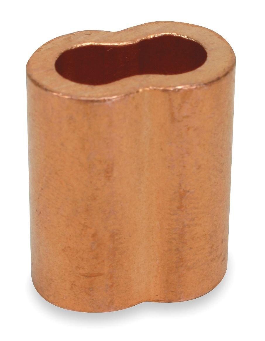 Dayton 2VJZ6 Sleeve, Cable, 7/32, Copper, Pk25