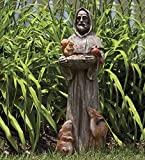 Plow & Hearth St. Francis and Friends Resin Garden Statue - 9.75 Dia x 32.5 H