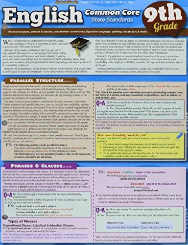 English Common Core 9Th Grade