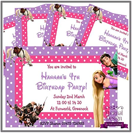 x2 Personalised Birthday Banner Rapunzel Design Children Party Decoration Poster