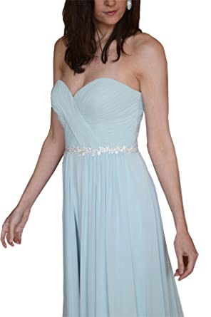 Lemandy Handmade Rhinestone Bridal Sash Belt Wedding Dresses Ribbon ...