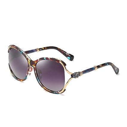 DONG Gafas de sol polarizadas Mujeres gran marco personalidad protector solar anti-fatiga gafas de