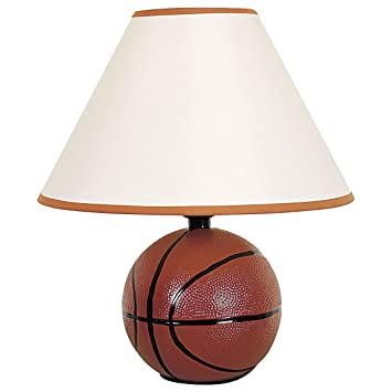 Amazon Com 12 In Table Lamp With Ceramic Basketball Base In Orange
