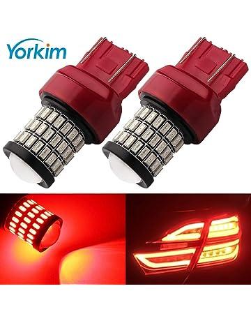 Yorkim Ultra Bright T20 7440 7443 W21W Led Bulb Red for Backup Reverse Light, Break