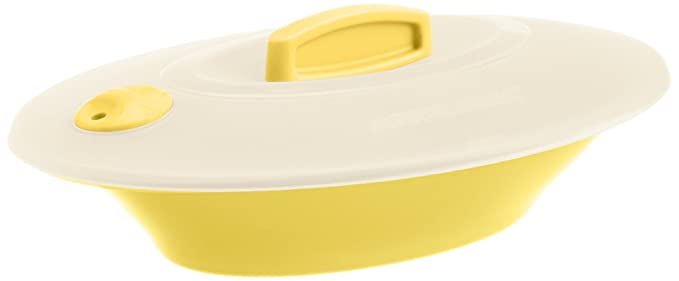 Signoraware Oval Server With Cover Lemon Yellow At Rs