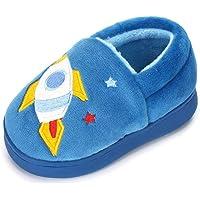 LACOFIA Pantuflas Antideslizante de Invierno para niños Zapatillas de casa de Peluche cálida para niños