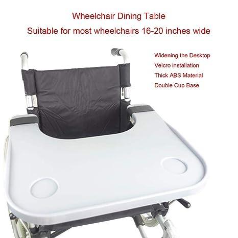 WUHX Mesa de bandejas extraíble para sillas de Ruedas, con ...