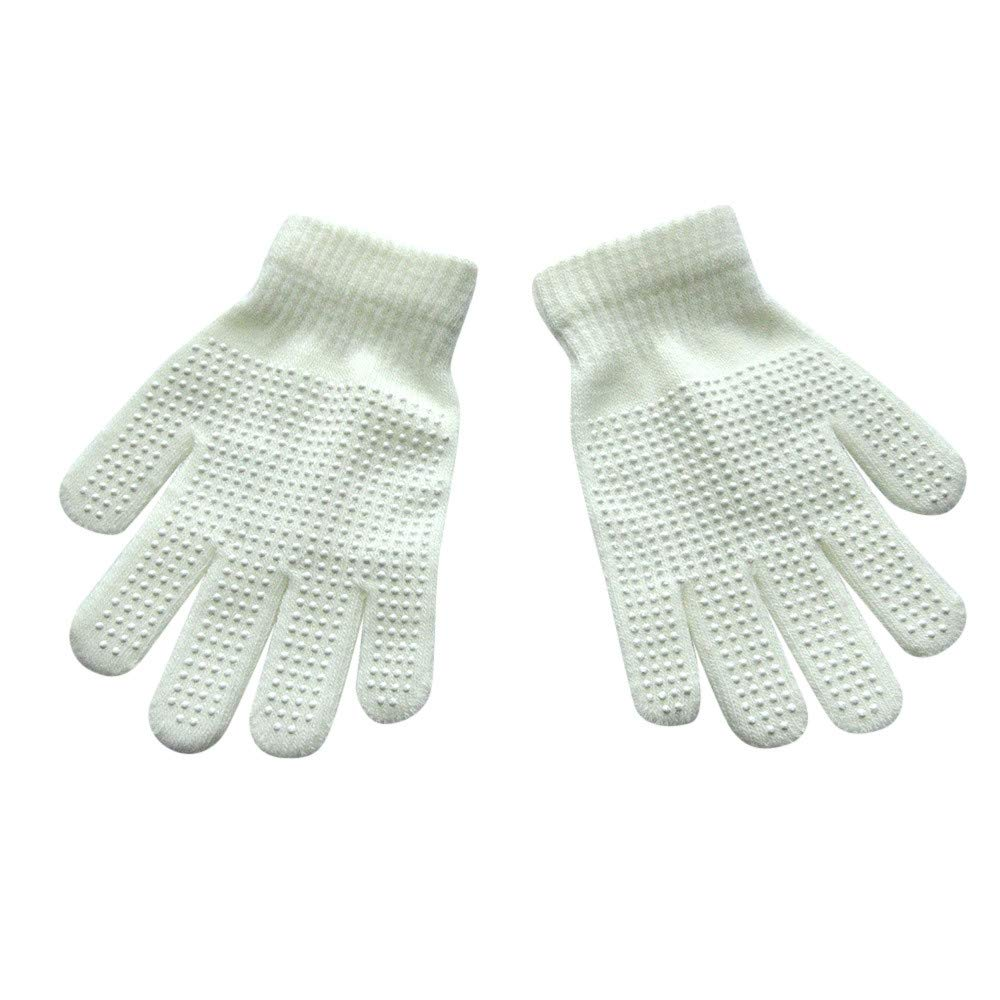 CMrtew ❤️ New Winter Warm Magic-Stretch Gripper Glove Children Size Colorful Set Knit Gloves Elegant Design Style
