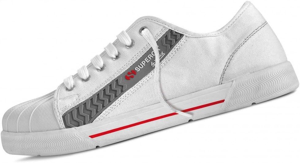 Scarpa, calzatura da lavoro SUPERGA bassa in canvas bianca. S1P taglia 45