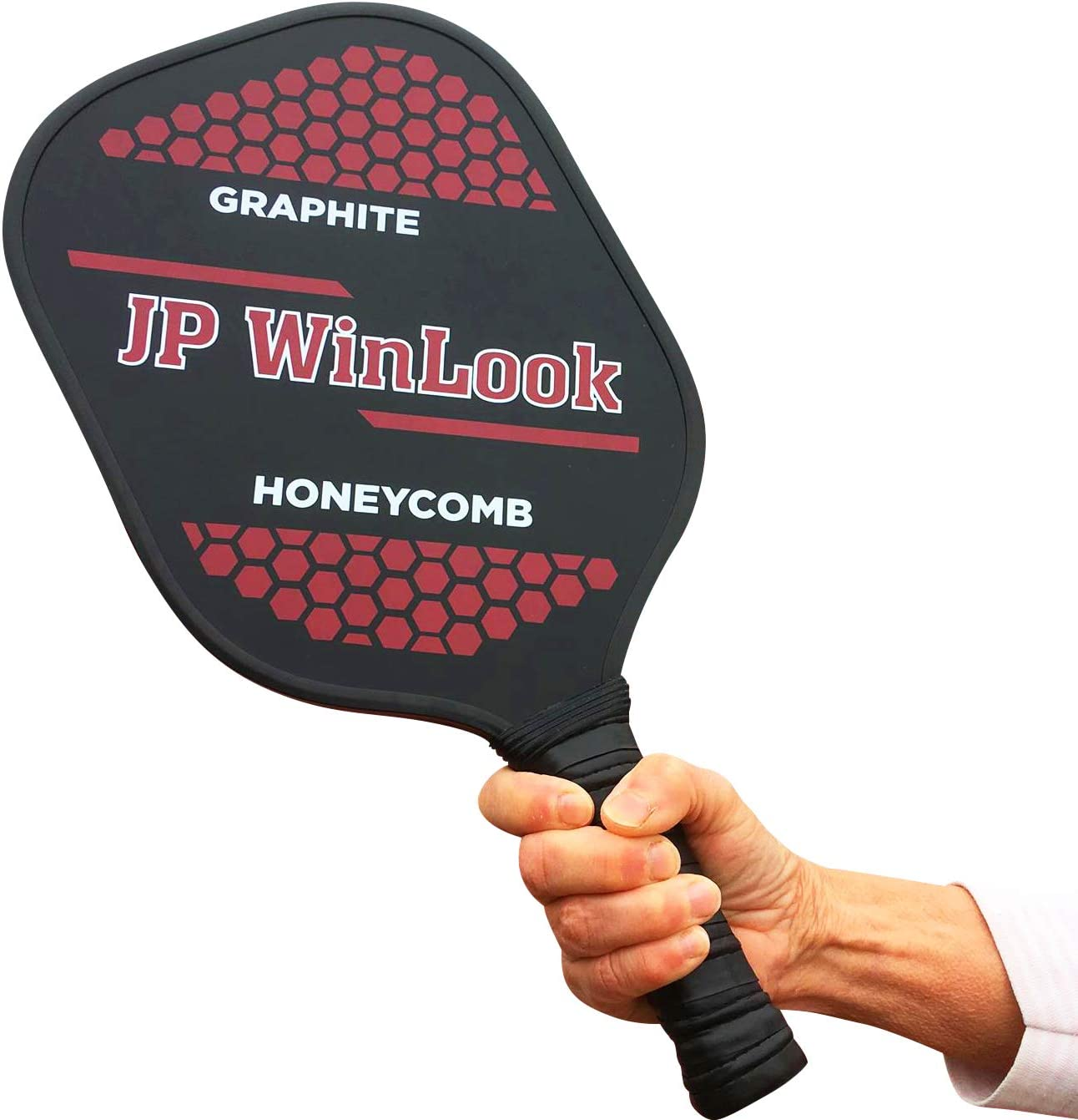 JP WinLook Pickleball Paddle Set - 2 Premium Graphite Rackets Honeycomb Composite Core 3 Balls, Ultra Cushion Grip, Portable Racquet Cover Case Bag ...