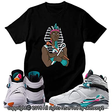 best service 761ce df704 Custom T Shirt Matching Style of Air Jordan 8 South Beach JD 8-5-12