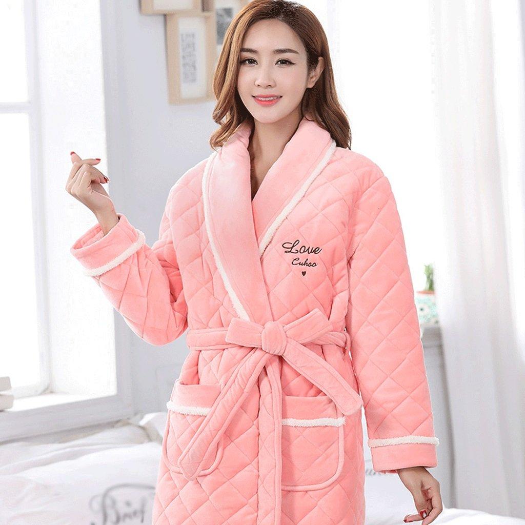Albornoces ZLR Winter Lady Lady Sleep hogar Robe Pure además Cotton ...