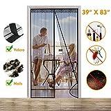 #9: Magnetic Screen Door, Instant Mesh Curtain Screen Door with Full Frame Velcro Anti Bedbug Fly Anti-Mosquito Door Net 39