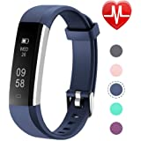 Letsfit Fitness Tracker with Heart Rate Monitor, Slim Activity Tracker Watch, Pedometer Watch, Sleep Monitor, Step Counter, Calorie Counter, Waterproof Smart Band for Kids Women and Men