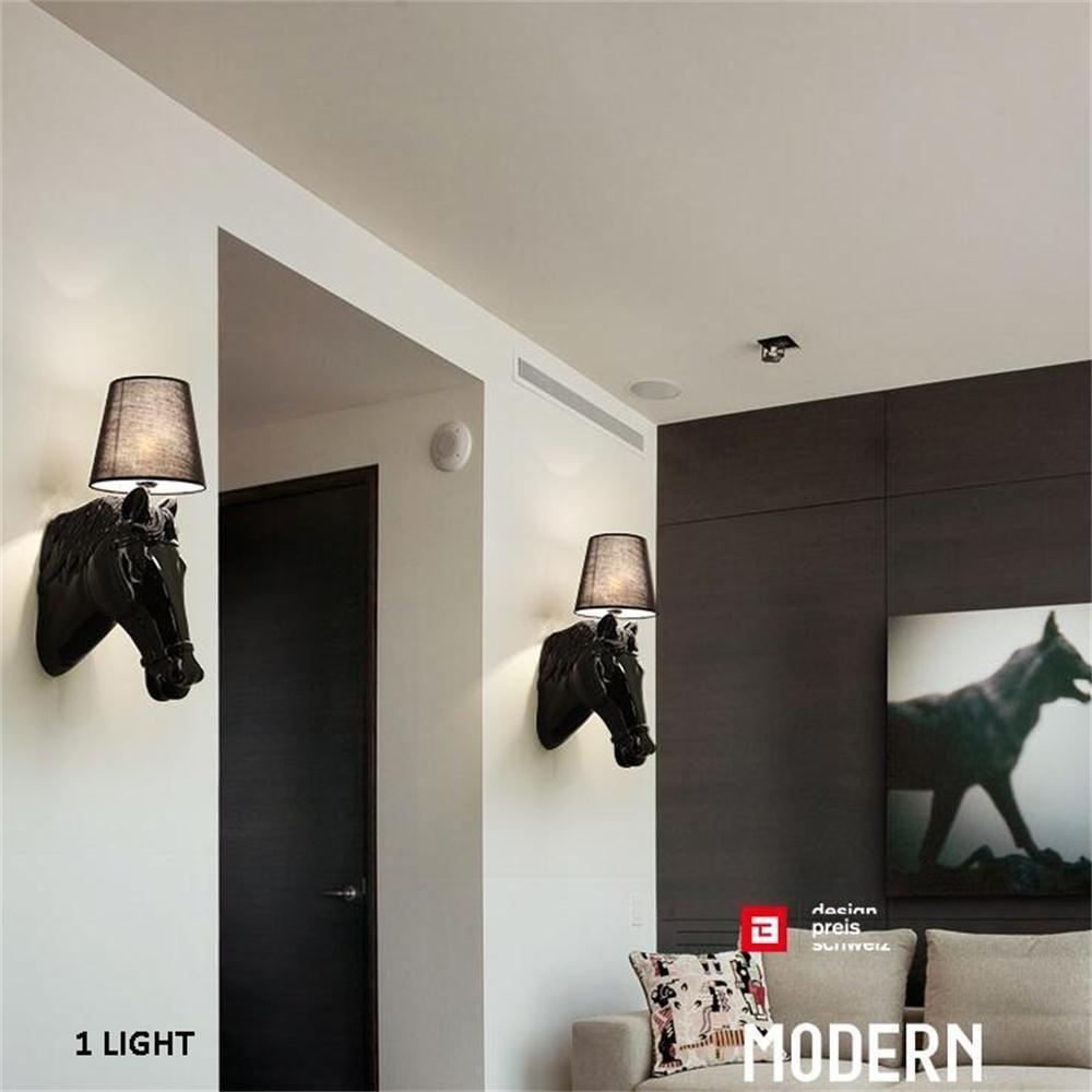 GBT  Kreative ModernContinental Hotel Foyer Foyer Foyer Flur Schlafzimmer Nacht Harz Pferd Wandleuchte Nachtlicht,Weiß B076KD6HBZ | Ausgezeichnete Qualität  1b00f3