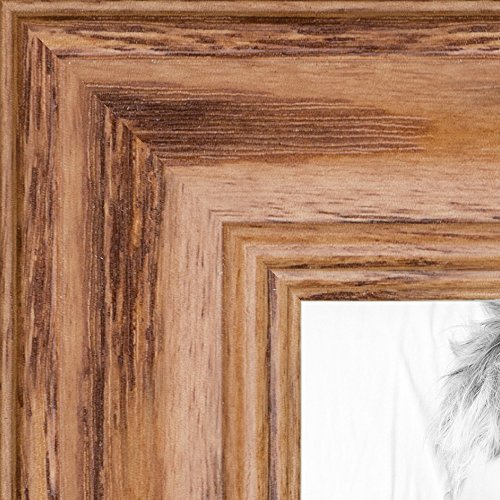 ArtToFrames 5x7 inch Honey Stain on Solid Red Oak Wood Picture Frame, WOM0066-59504-YHNY-5x7 -