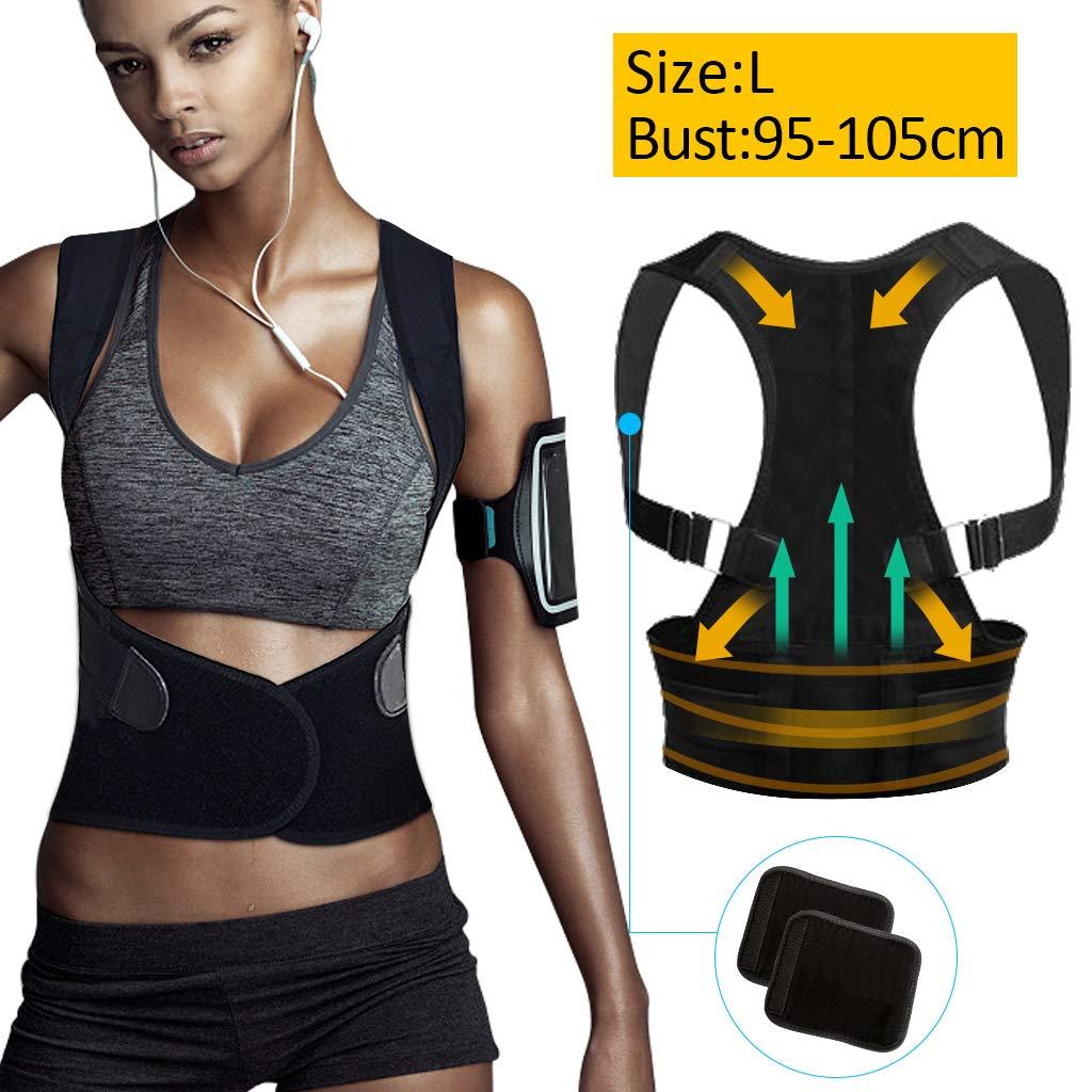 Corrector de postura, tencoz ajustable corrector de hombro postural transpirable volver a cinturón postura corrección cinturón lumbar apoyo para hombres ...