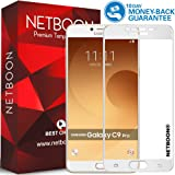 NETBOON® 3D Edge Full Body Screen Guard Tempered Glass for Samsung Galaxy C9 Pro – White