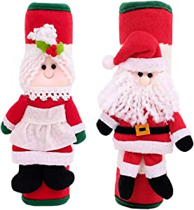 Adorable Snowman Refrigerator Handle Covers Set | Cute &Practical Fridge Door Covers Protective Kitchen Appliance Covers |Perfect Christmas Decorations Idea
