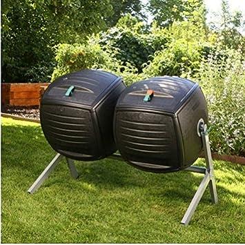 Composter vida 227 litros doble compostadores/Patio jardín paisaje casa casa patio Patio diseño Gadgets