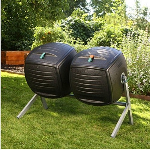Composter vida 227 litros doble compostadores/Patio jardín ...
