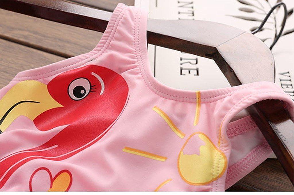 SKY-ST Toddle Swan Baby Girls Flower Flounced One Piece Tankini Swimsuit Swimwear