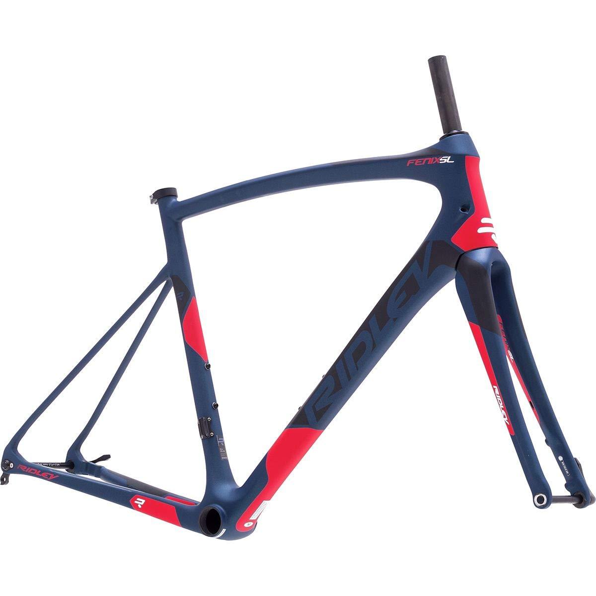 Ridley Fenix SL ディスクロードバイクフレーム ダークブルー/ブラック/レッド L B07GGW94Y3