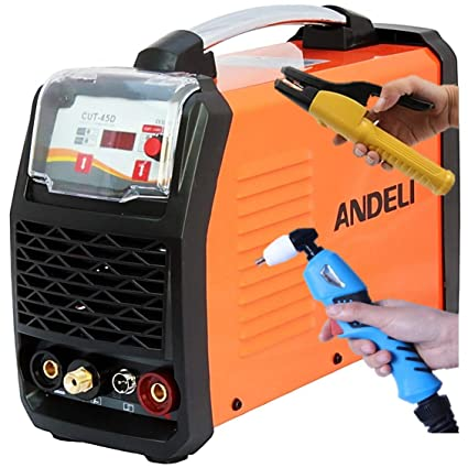 45a Air Plasma Cutter With Hf Start Mma Arc Stick Dc Inverter Welder 2 In 1 Igbt Digital Control High Duty Cycle 60 Complete Accessories