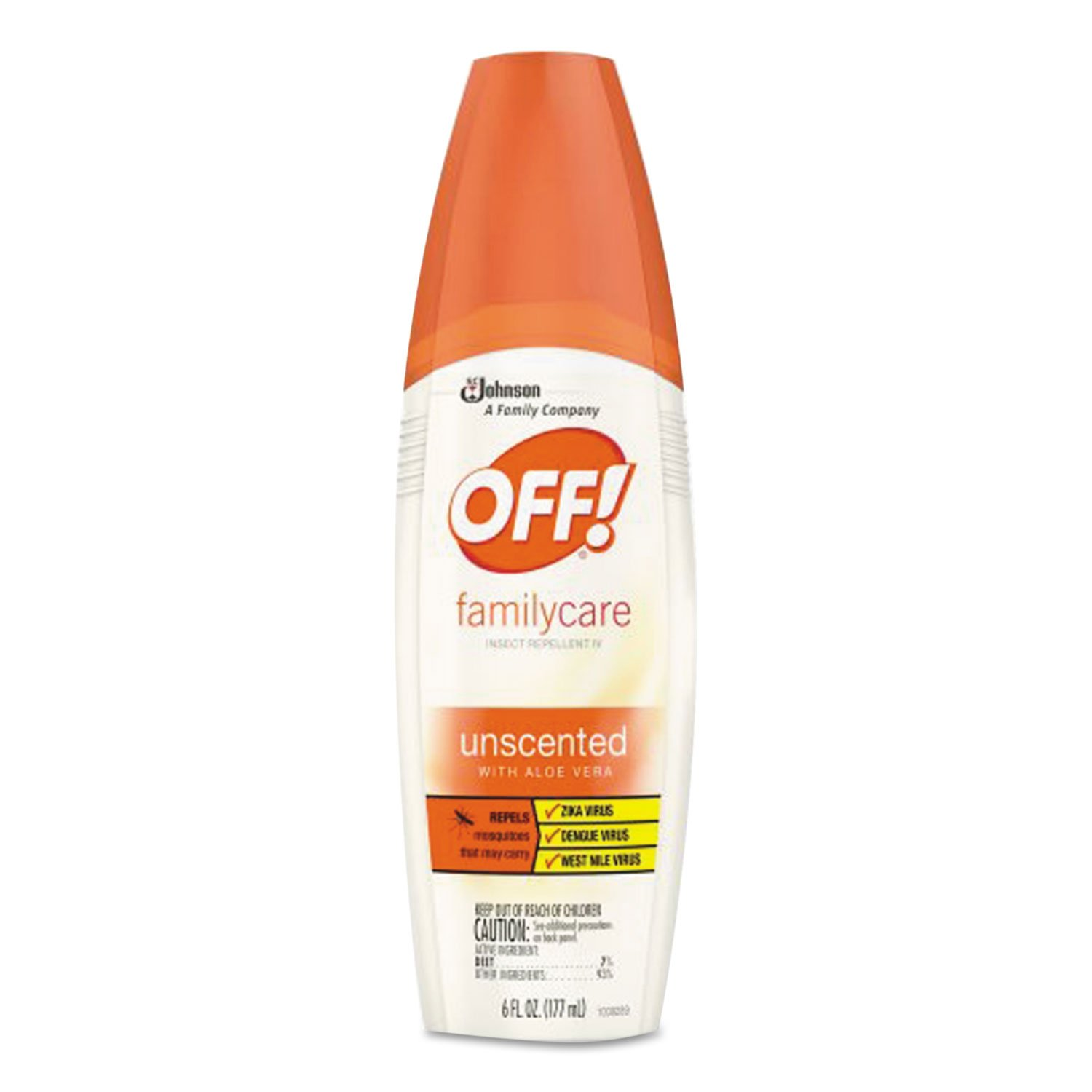 OFF! CB018357 FamilyCare Insect Repellent Spray 6 oz Spray Bottle Unscented 12/Carton