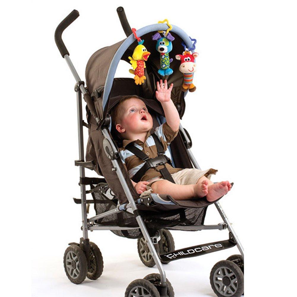 Elefante Isuper Peluche Juguetes,Felpa Juquete Colgante para Cochecito//capazos de beb/é//carritos//sillas de Paseo Sonajero con Sonidos para Beb/és Reci/én Nacido