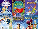 peter pan disney vhs - Cinderella 1 & 2 / Little Mermaid 1 & 2 / Peter Pan 1 & 2 - Set 6 VHS tapes
