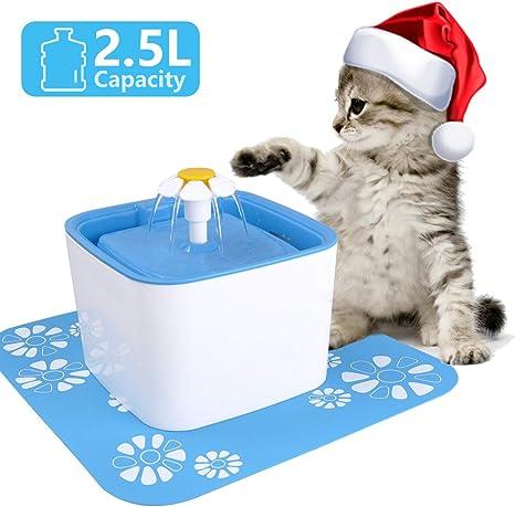 Iseebiz 2.5L Bebedero Perro Automatico de ABS Silencioso Fuente de Agua para Gatos y Perros con 2 Filtro de Carbón: Amazon.es: Productos para mascotas