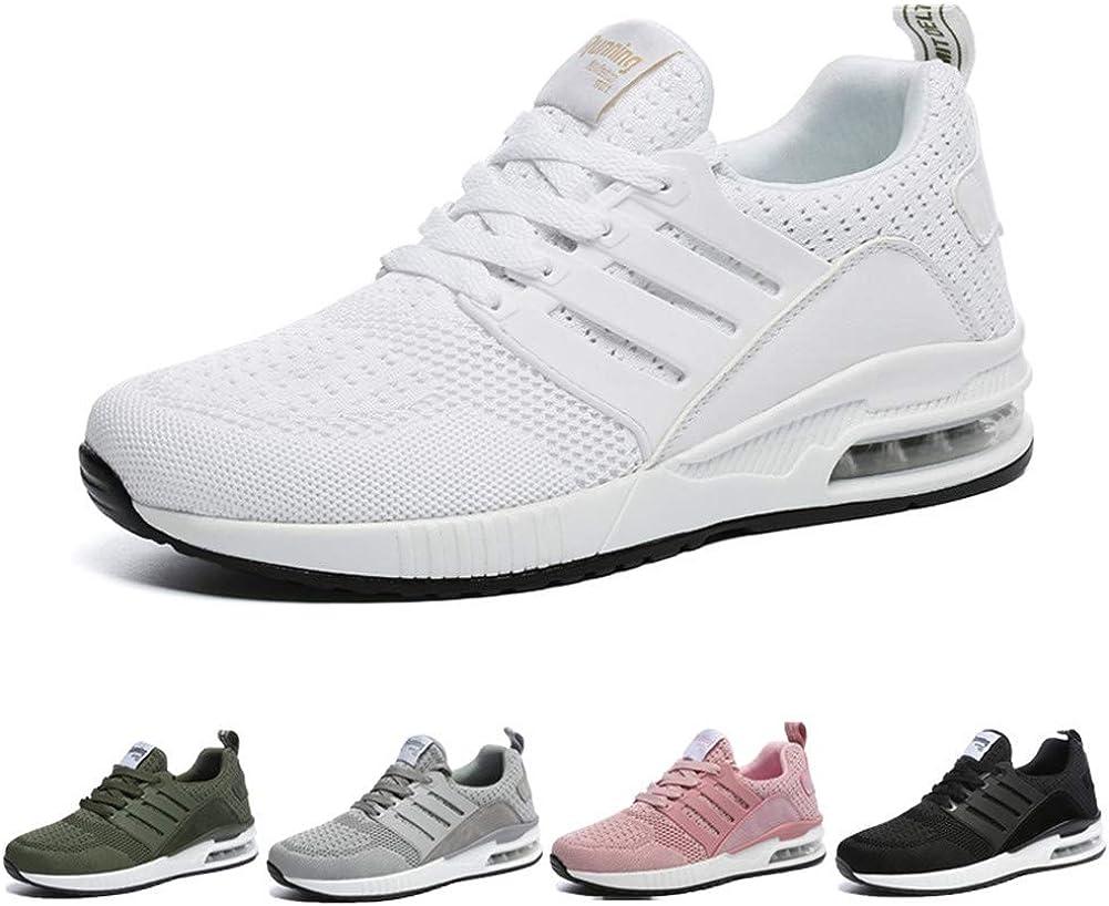 Hombre Mujer Zapatillas Running para Aire Libre y Deporte Transpirables Casual Zapatos Gimnasio Correr Sneakers 36-44EU: Amazon.es: Zapatos y complementos