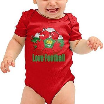 Mameluco bebé Ropa de niña niño bebé recién nacido Pijama con estampado de fútbol Mono de