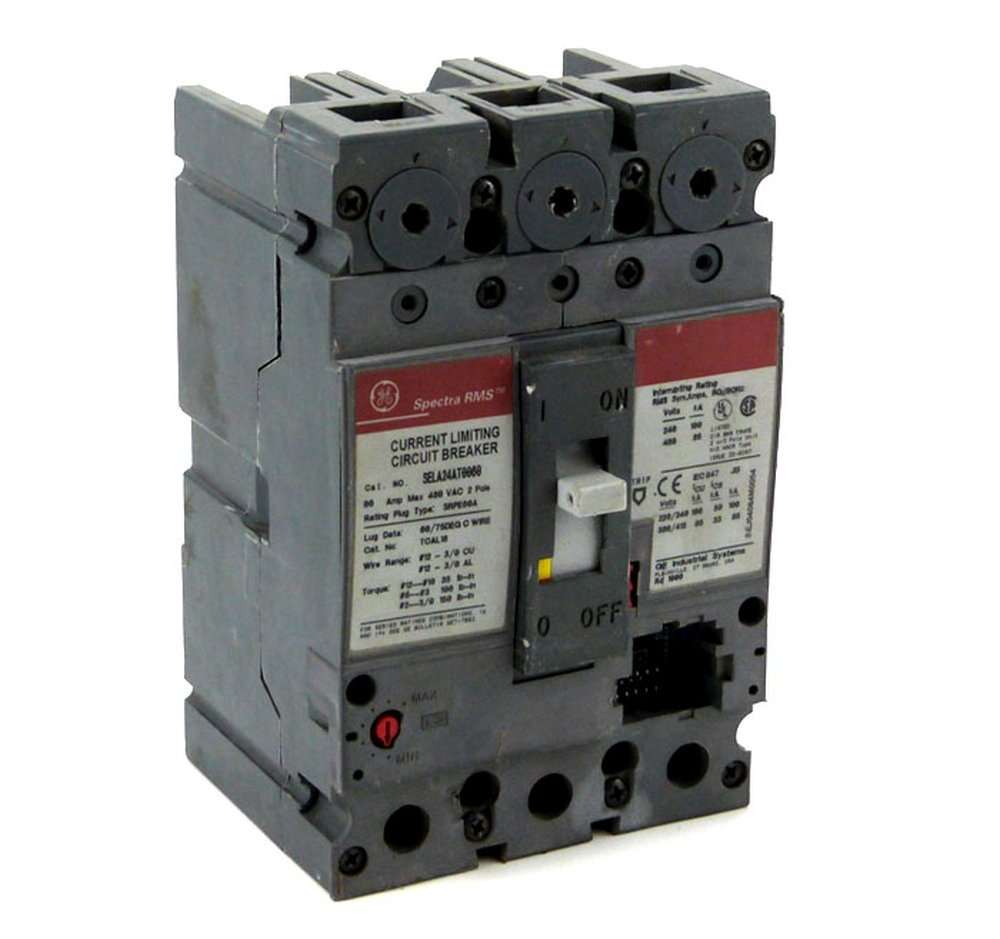 Refurbished General Electric GE SELA36AT0150 Spectra Circuit Breaker 3 Pole 150A 600V