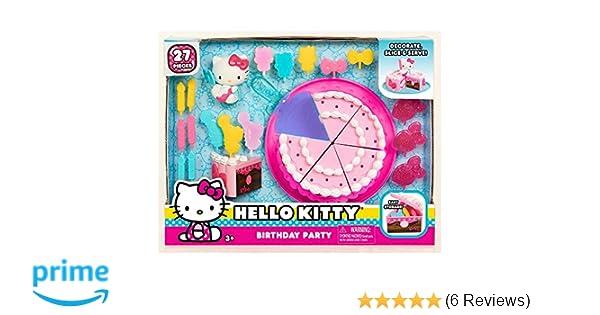 d37f5e7fa Amazon.com: Hello Kitty Just Play Birthday Party Playset: Toys & Games