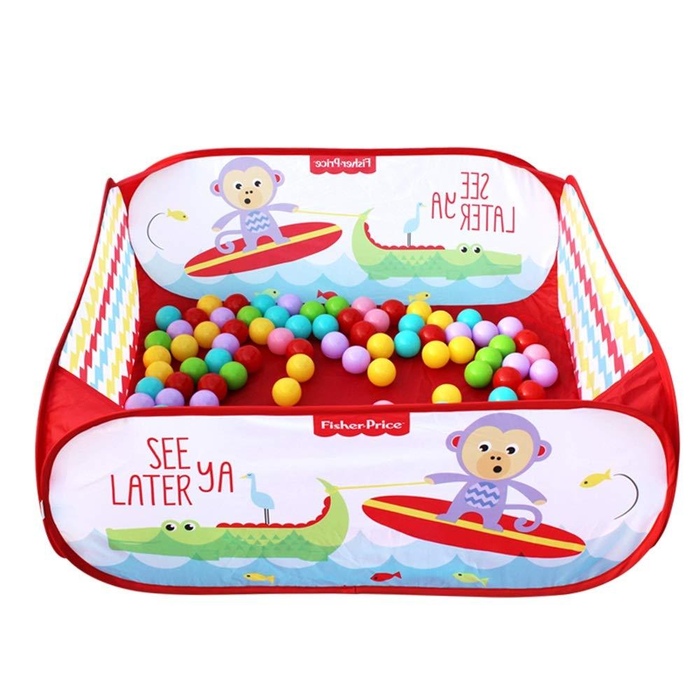 GLJJQMY ゲームフェンス屋内遊び場玩具ハウスチャイルドプロテクションフェンスオーシャンボールプール (Color : Red)  Red B07QZWP2BK