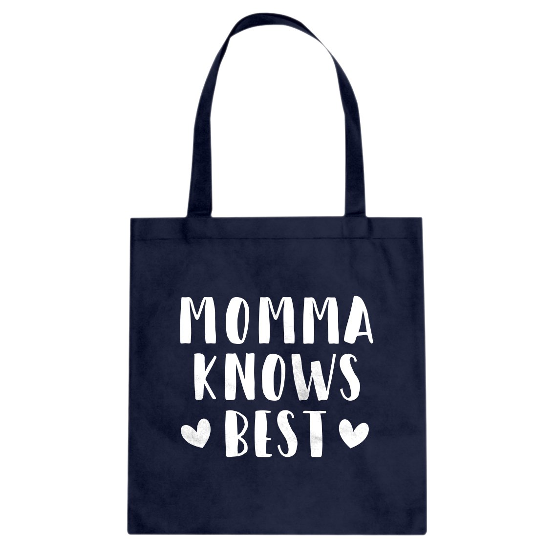 Indica Plateau Momma Knows Bestキャンバストートバッグ L ネイビーブルー B074HSKG6H