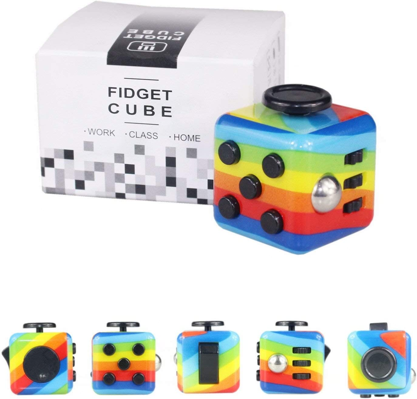 Yetech Rainbow Juguete Antiestrés Stress Cube,Cubo Anti-estrees para niños y Adultos