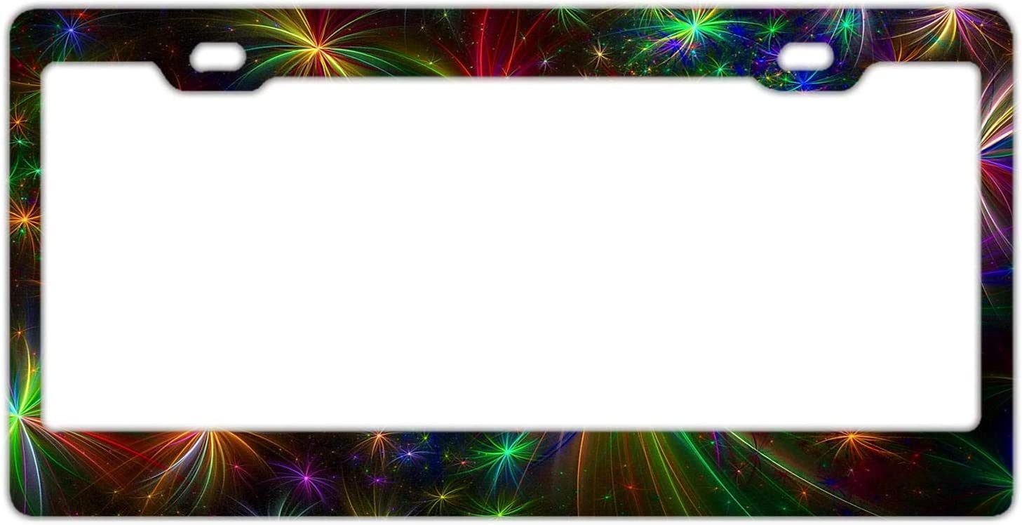 YEX Abstract Volunteer Firefighter License Plate Frame Car Licence Plate Covers Auto Tag Holder 6 x 12