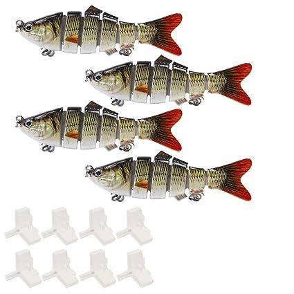 Señuelo de Pesca Multi-articulado Cebo Duro 10-15cm/19-35g: Amazon ...