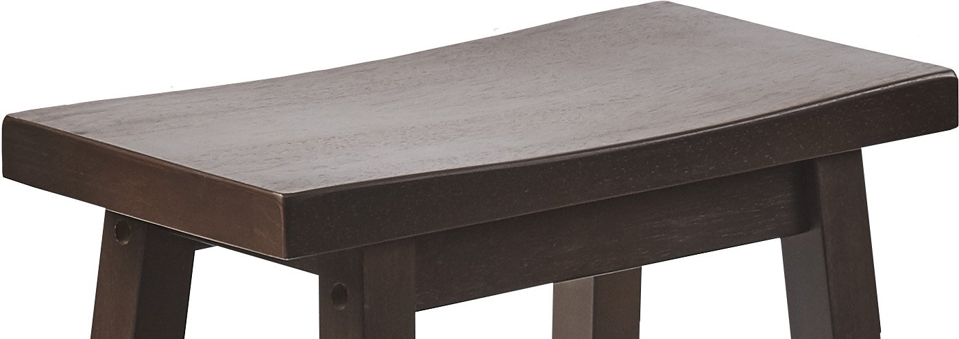 PJ Wood 24-Inch Saddle Seat Counter Stool - Walnut by PJ Wood (Image #5)