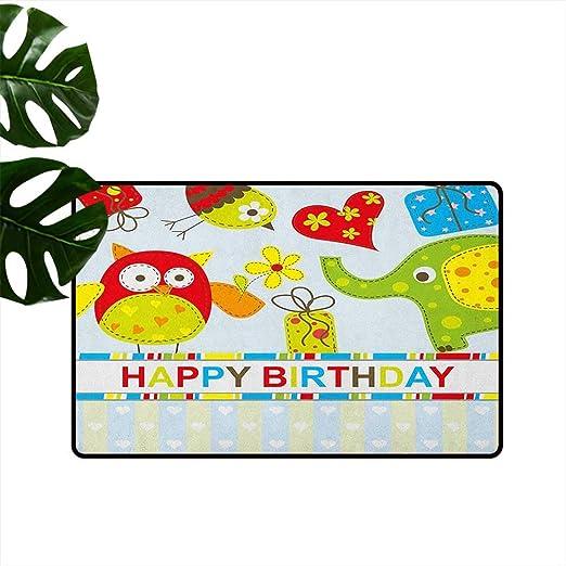 Anzhutwelve - Felpudo Universal para cumpleaños, diseño de ...