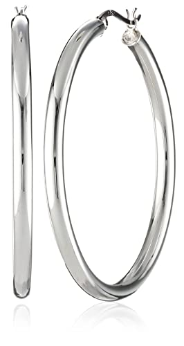 Sterling Silver Polished 4-mm Round Tube Hoop Earrings